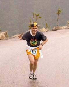Bob Cargill Running the Mount Washington Road Race