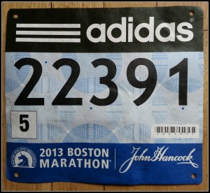 Bob's Boston Marathon Bib Number