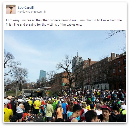 Boston Marathon Facebook Status Update