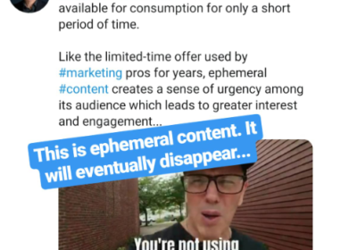 Ephemeral Content on Social Media